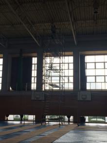 体育館照明工事2